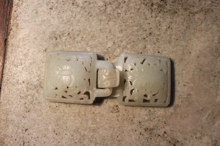 antique chinese jade buckle