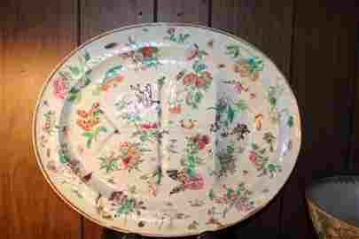 Antique Chinese hand painted porcelain plate