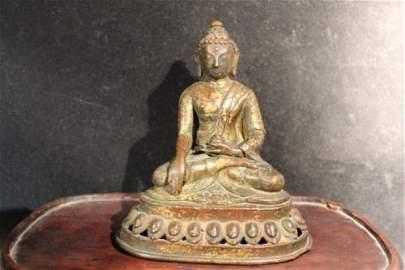 antique Chinese gilt bronze figure