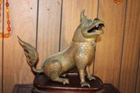Antique Chinese Bronze Lion Burner