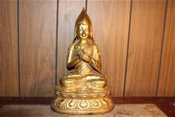 Antique Chinese bronze gilt Buddha