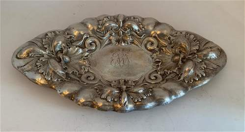 M Schooler Sterling Silver Art Nouveau Centerpiece Bowl