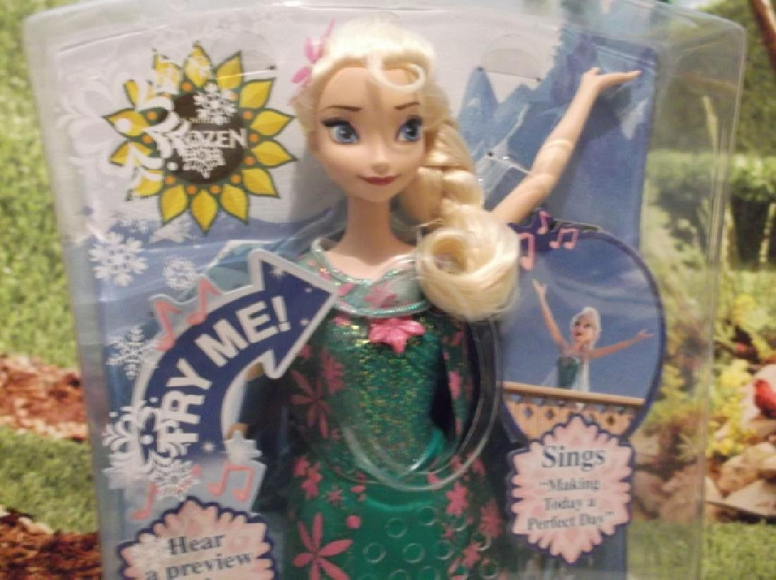 New Disney Frozen Fever Singing Elsa Barbie Doll MIB - 2