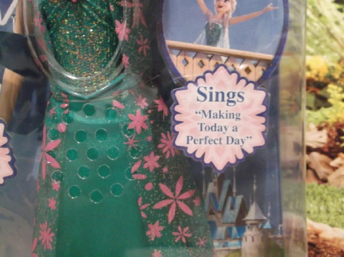 New Disney Frozen Fever Singing Elsa Barbie Doll MIB - 3