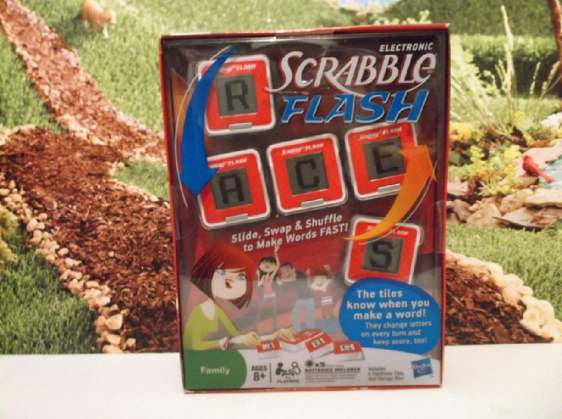 New Hasbro Scrabble Flash Electronic Game Sealed MIB
