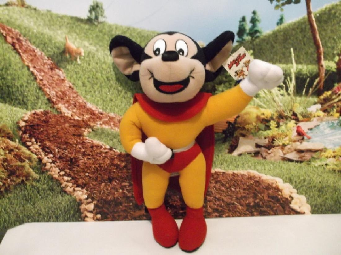 Vintage Terry Toons Viacom Mighty Mouse Tagged Plush