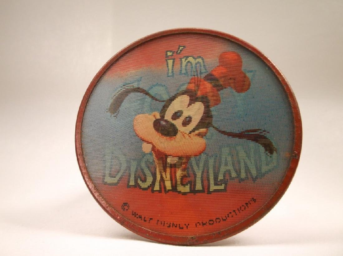 Vintage 1970s Disney Im Goofy For Disneyland Pinback
