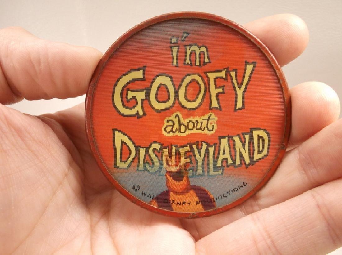 Vintage 1970s Disney Im Goofy For Disneyland Pinback - 2