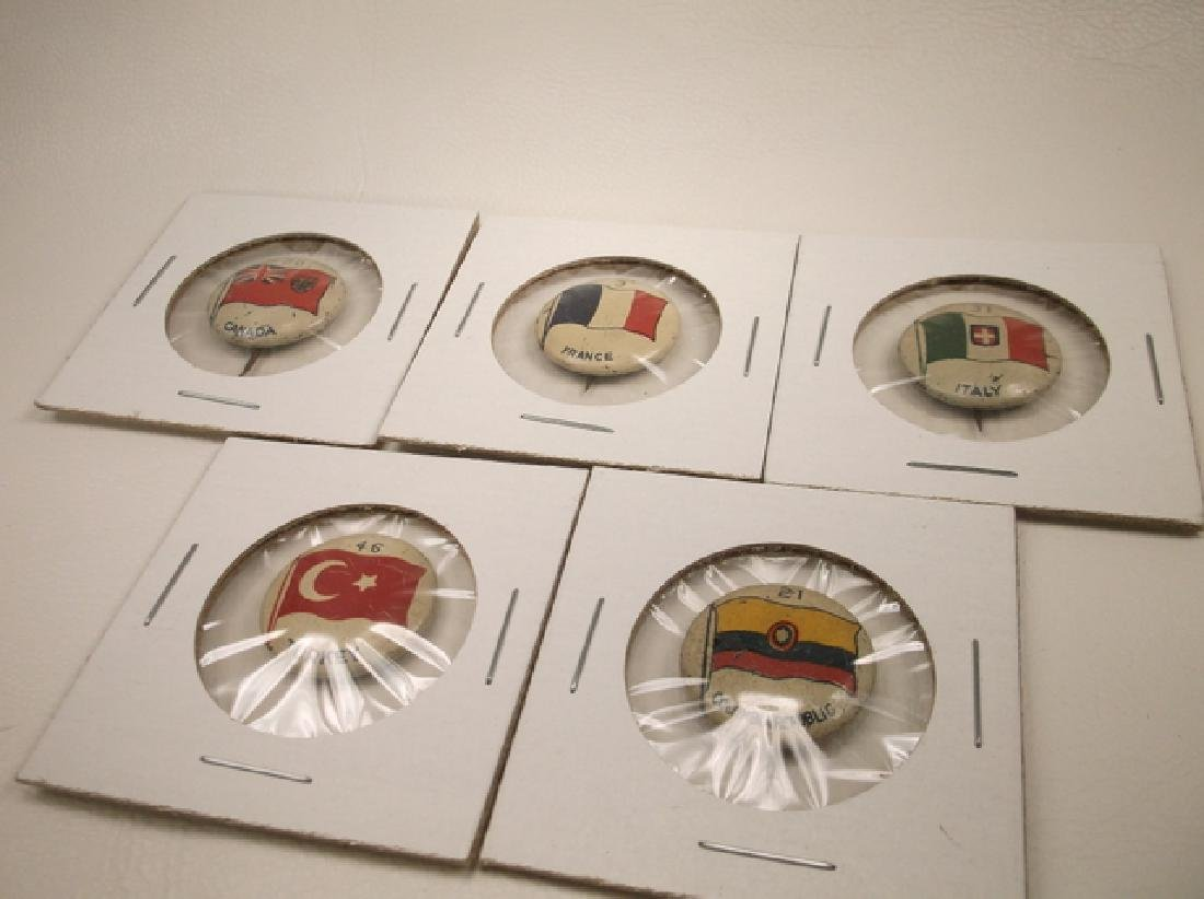 5 - 1917 Green Duck Pinback Buttons Canada France Italy