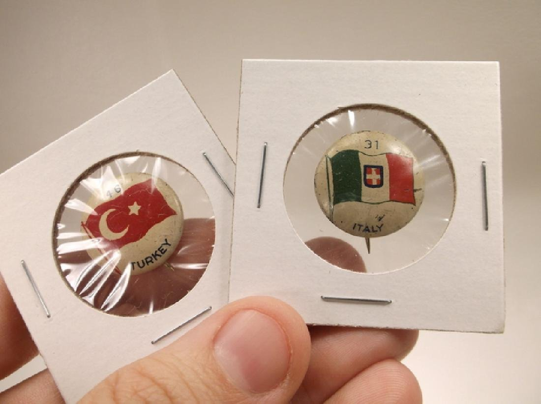 5 - 1917 Green Duck Pinback Buttons Canada France Italy - 3