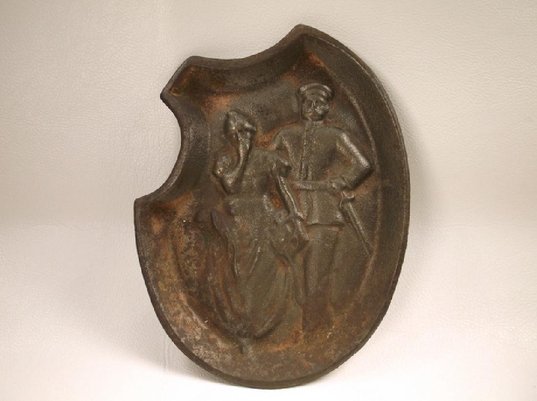 Rare Antique Ha Dees Hotternell Heater Risqué Ashtray