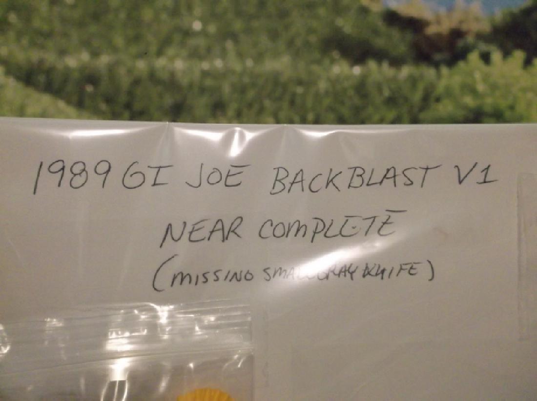 Vintage 1989 GI Joe Backblast V1 Near Complete - 2