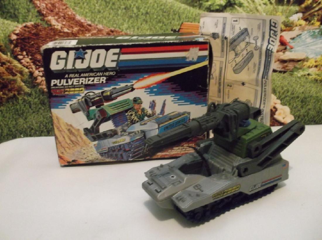 Vintage 1988 GI Joe Pulverizer Battle Tank With Box