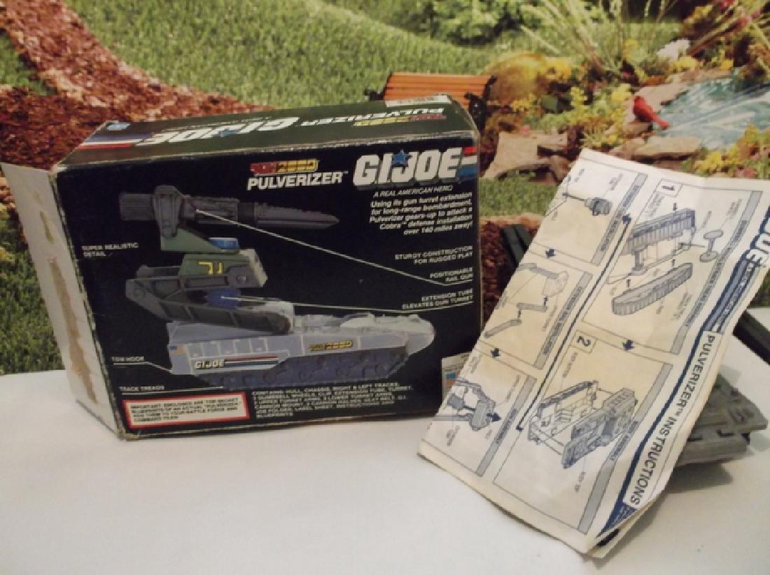 Vintage 1988 GI Joe Pulverizer Battle Tank With Box - 7