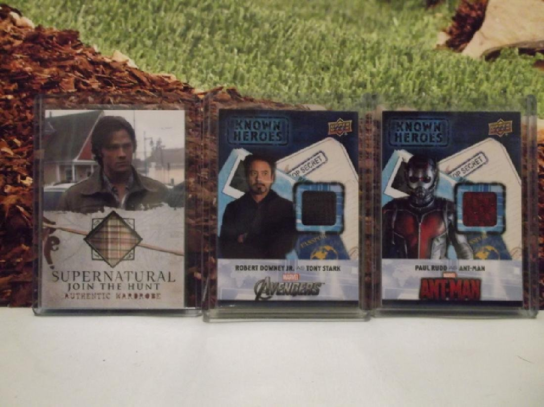 3 Movie Memorabilia Cards Iron Man Ant Man Supernatural