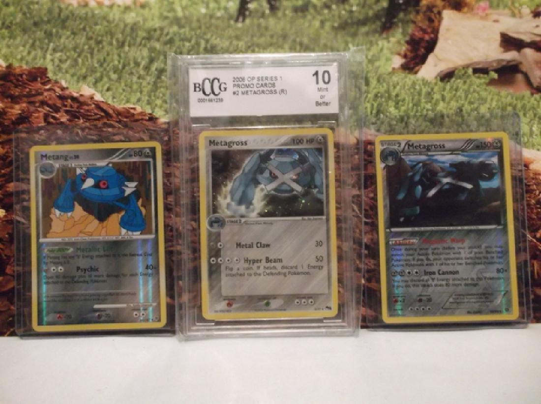 3 Pokémon Metagross Holofoil Rare Card Lot BCCG10