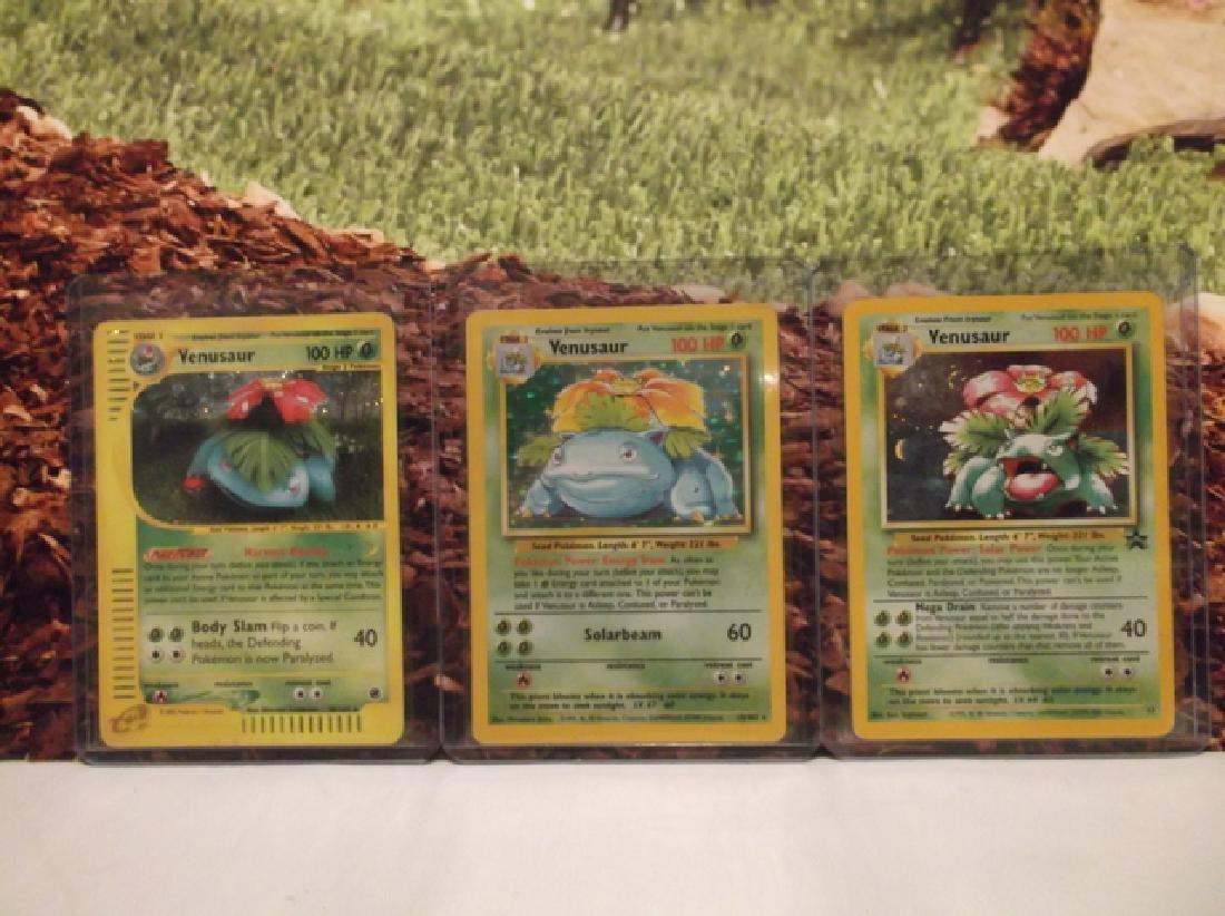 3 Vintage Pokémon Venusaur Rare Holo Cards Shadowless