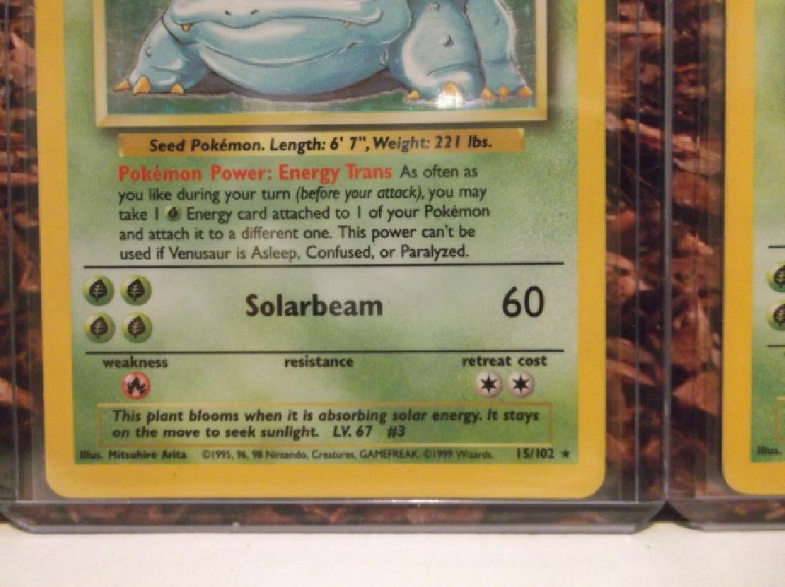 3 Vintage Pokémon Venusaur Rare Holo Cards Shadowless - 3
