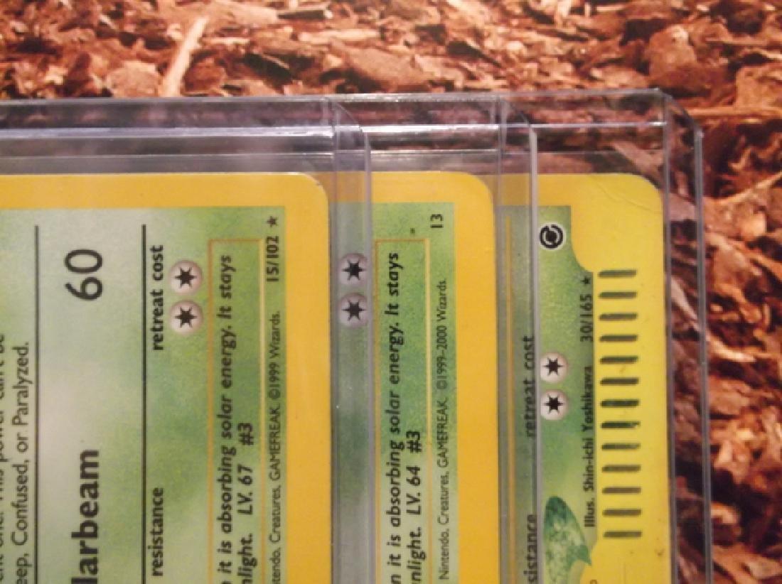 3 Vintage Pokémon Venusaur Rare Holo Cards Shadowless - 9