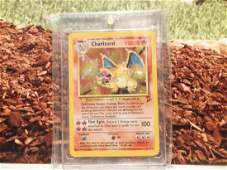 Vintage Pokémon Charizard Rare Holofoil Card 4/130 2nd