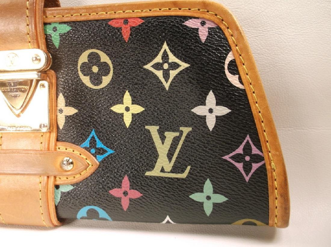 Louis Vuitton Black and Brown Leather Clutch No Strap - 2