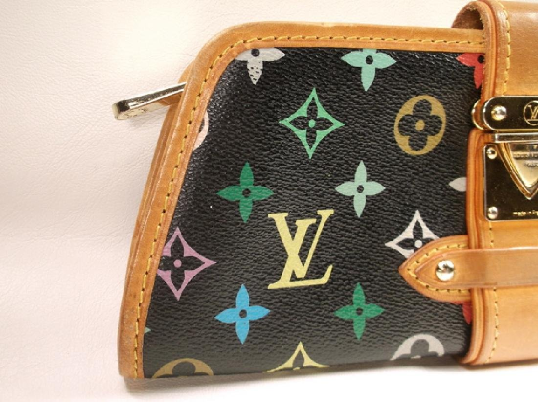 Louis Vuitton Black and Brown Leather Clutch No Strap - 4