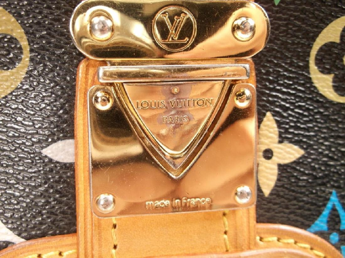 Louis Vuitton Black and Brown Leather Clutch No Strap - 5