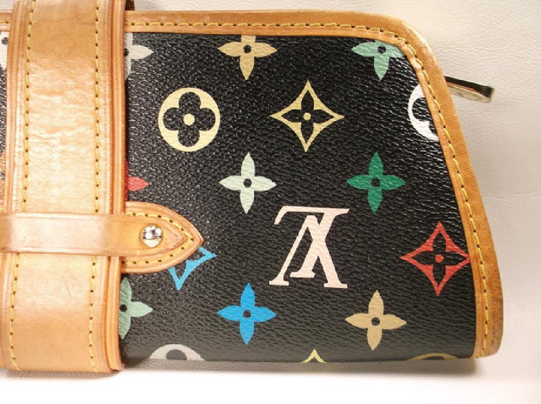 Louis Vuitton Black and Brown Leather Clutch No Strap - 8