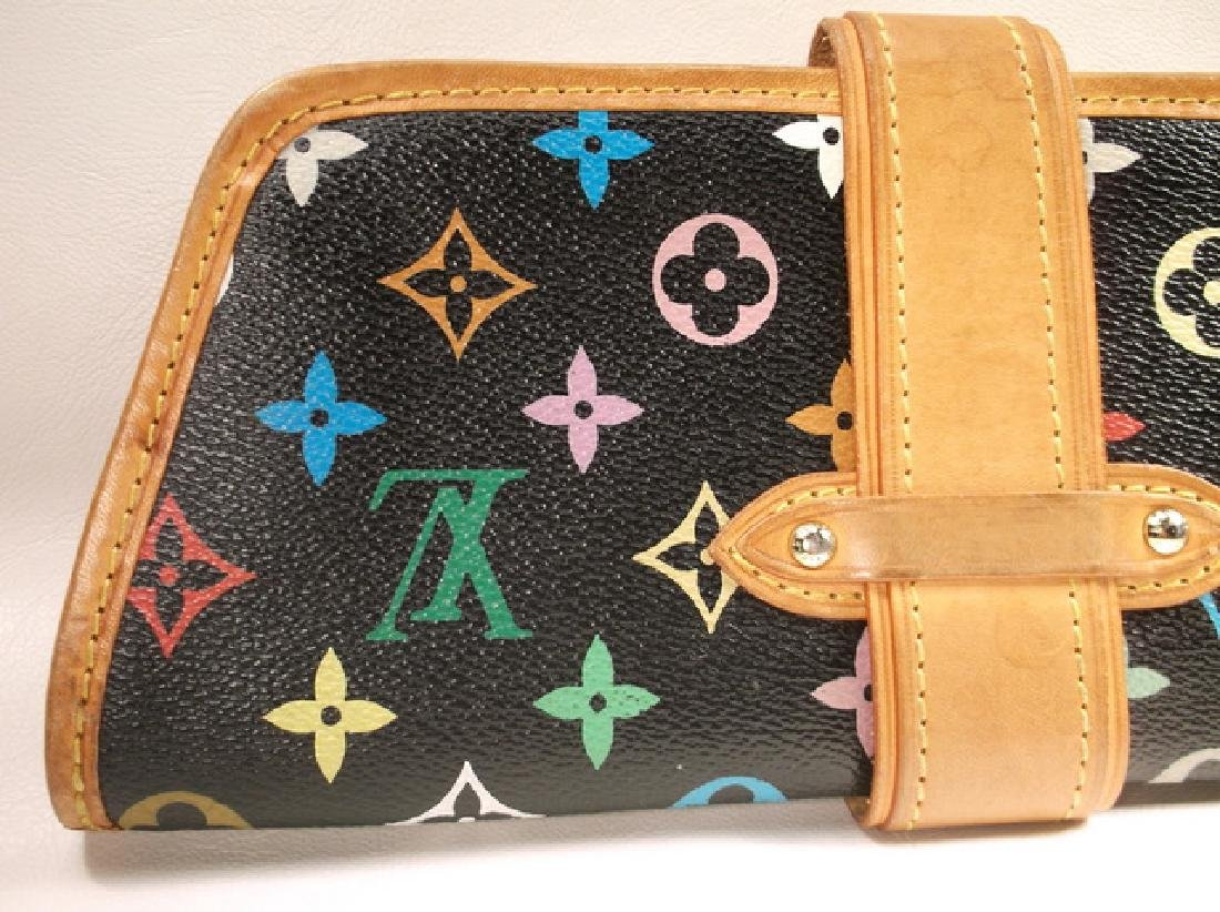 Louis Vuitton Black and Brown Leather Clutch No Strap - 9
