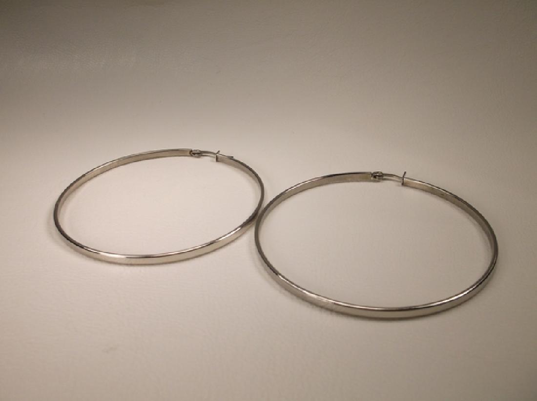 Gorgeous Large Stainless Steel Hoop Earrings 2.5 Inch