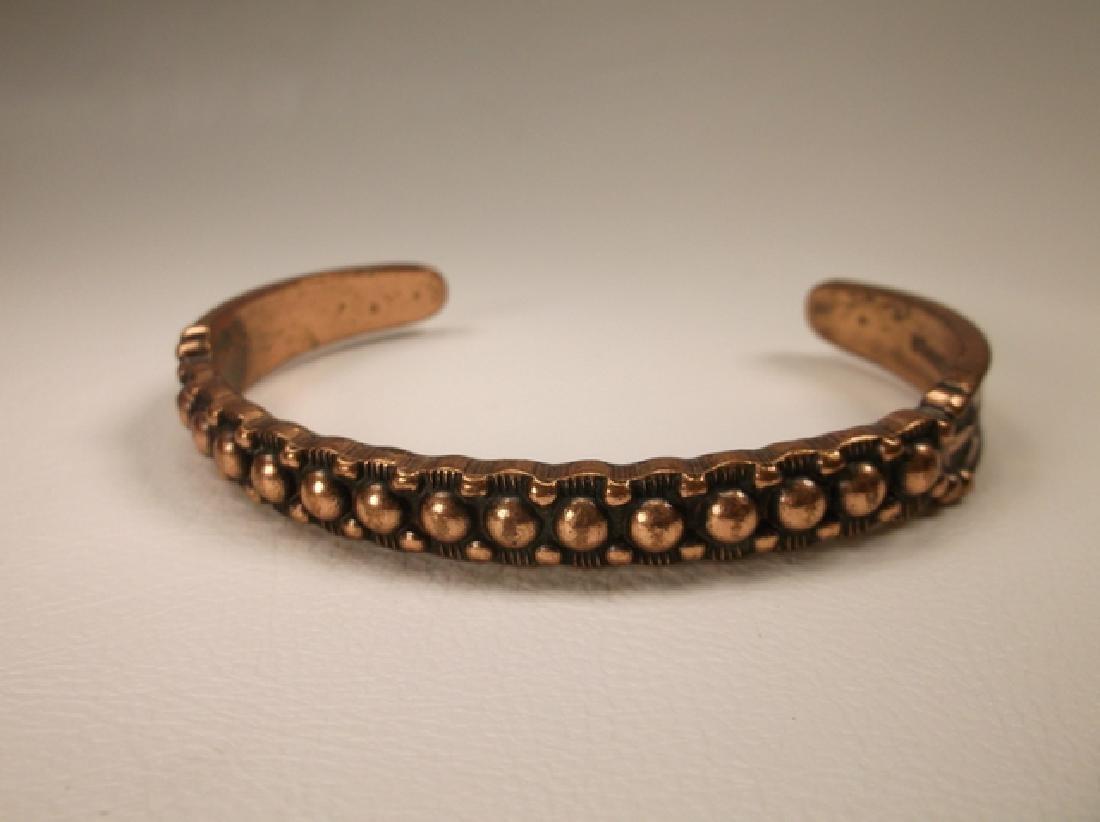 Vintage Navajo Solid Copper Cuff Bracelet Southwestern