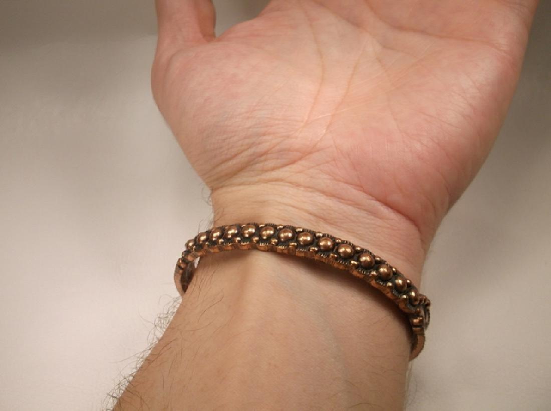 Vintage Navajo Solid Copper Cuff Bracelet Southwestern - 4
