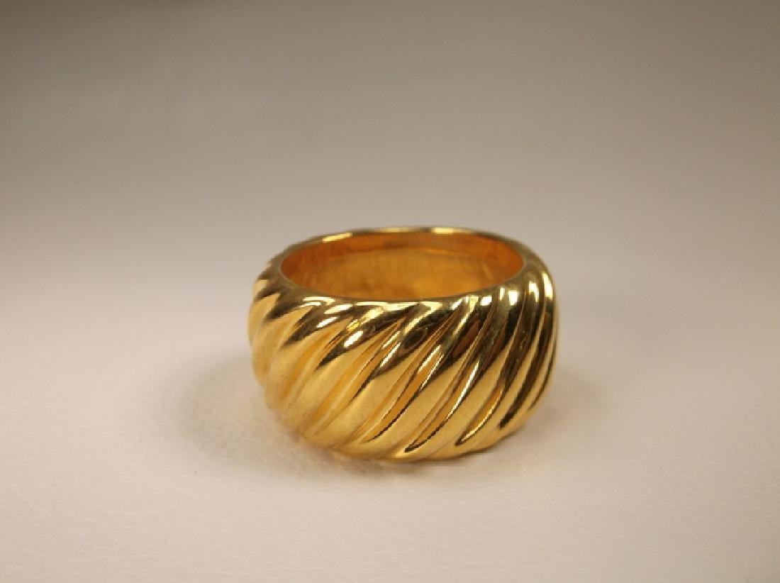 Stunning Vintage gold over Stainless Steel Design Ring