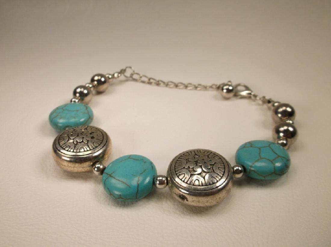 Beautiful Southwestern Ball Turquoise Bracelet 7-9 Inch