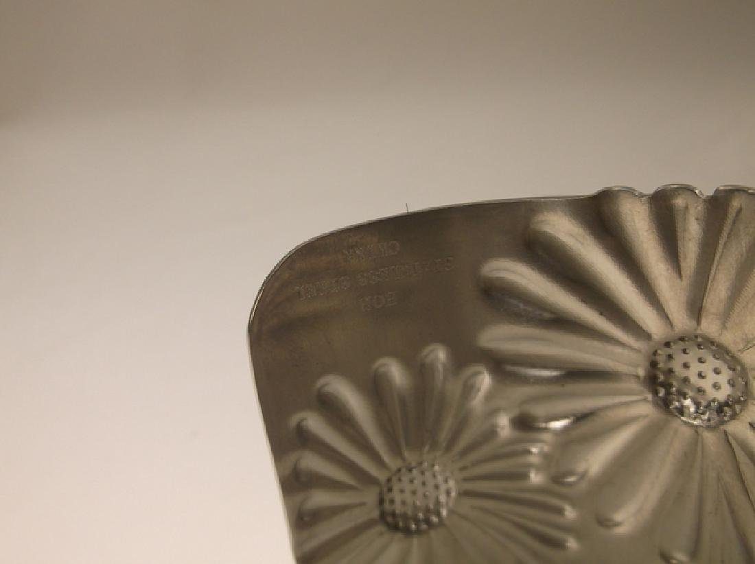 Gorgeous Large Stainless Steel Sunflower Cuff Bracelet - 4