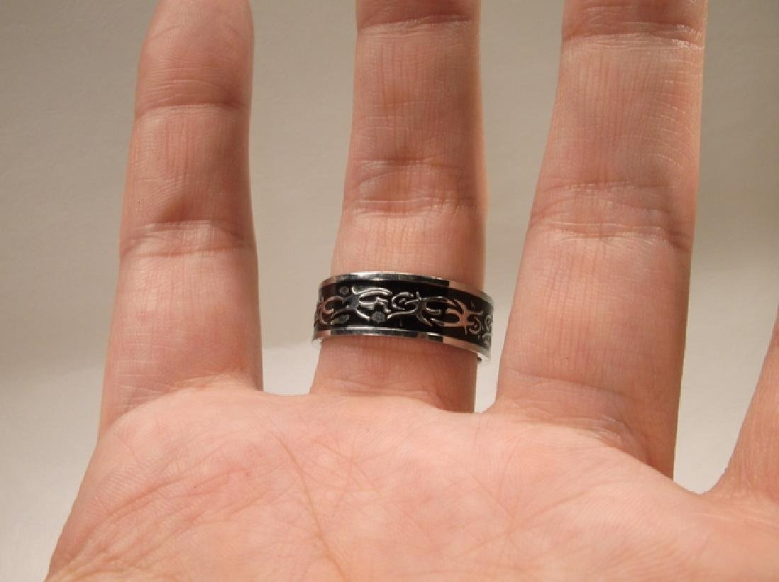 Gorgeous Stainless Steel Mens Tribal Design Ring Size