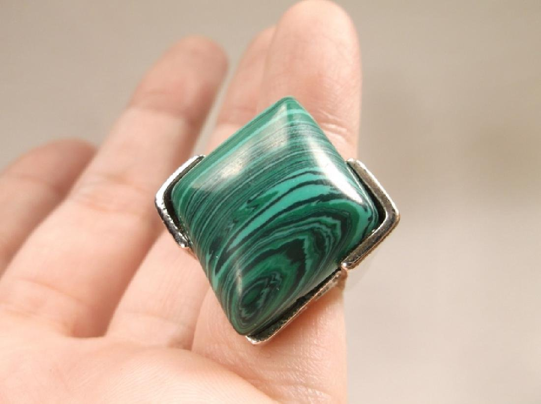 Beautiful Vintage Malachite Style Southwestern Ring