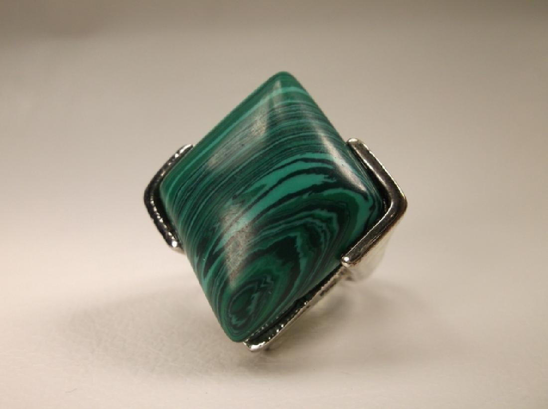 Beautiful Vintage Malachite Style Southwestern Ring - 3