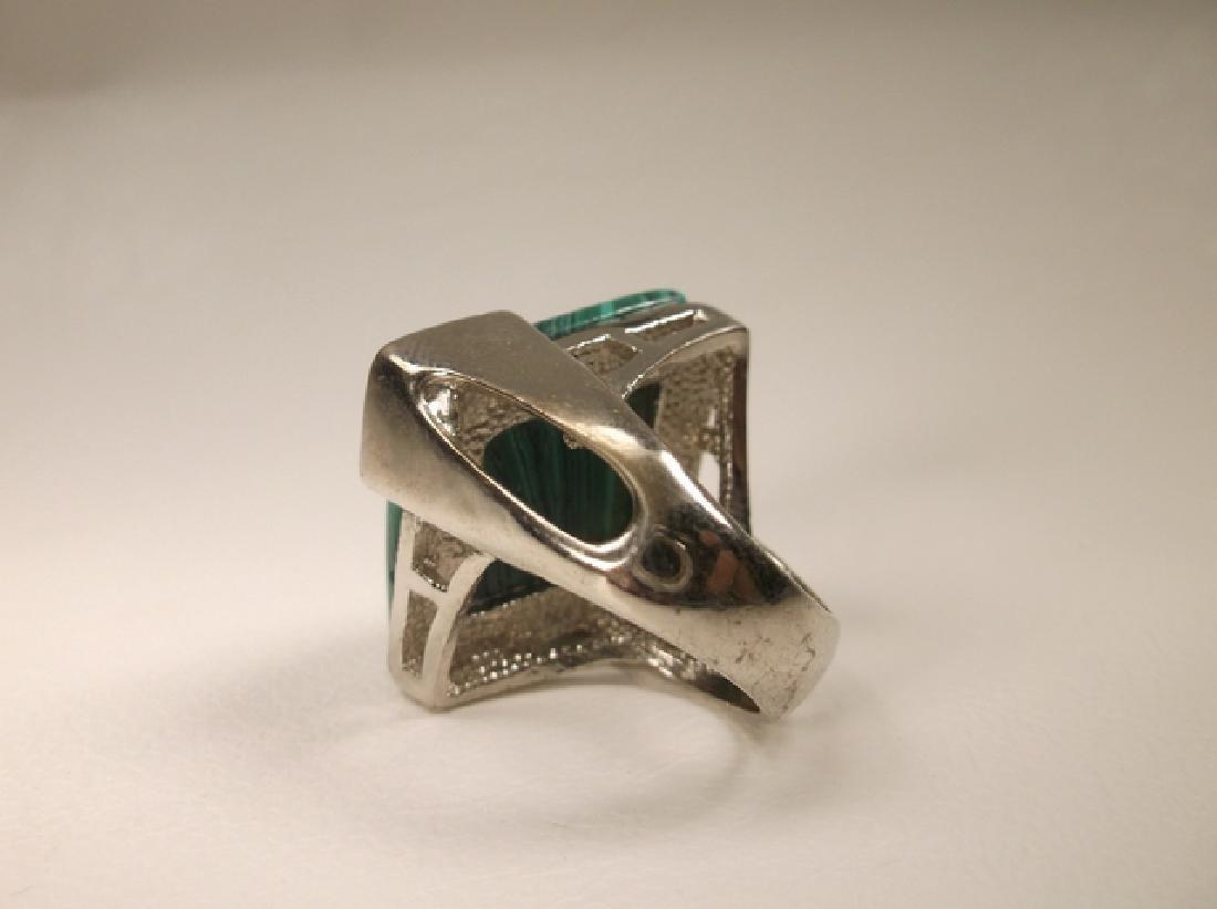 Beautiful Vintage Malachite Style Southwestern Ring - 4