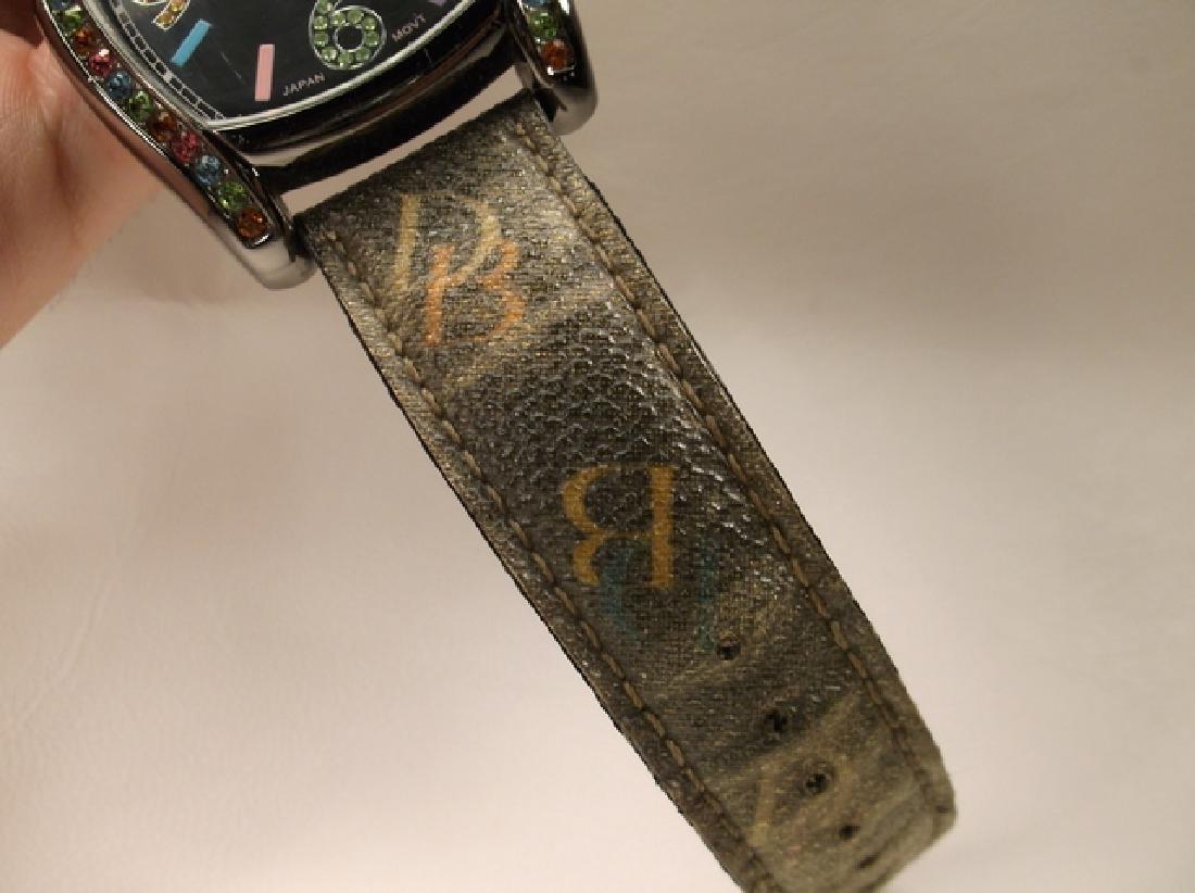 Black Leather Dooney & Bourke Colorful Wristwatch - 3