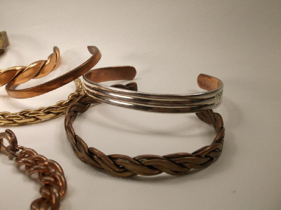 Large Collection of Copper Cuff Bracelets & More Sergio - 4