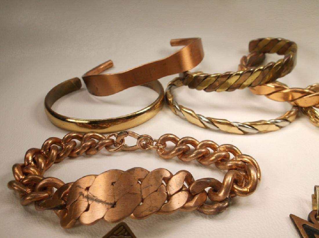 Large Collection of Copper Cuff Bracelets & More Sergio - 6