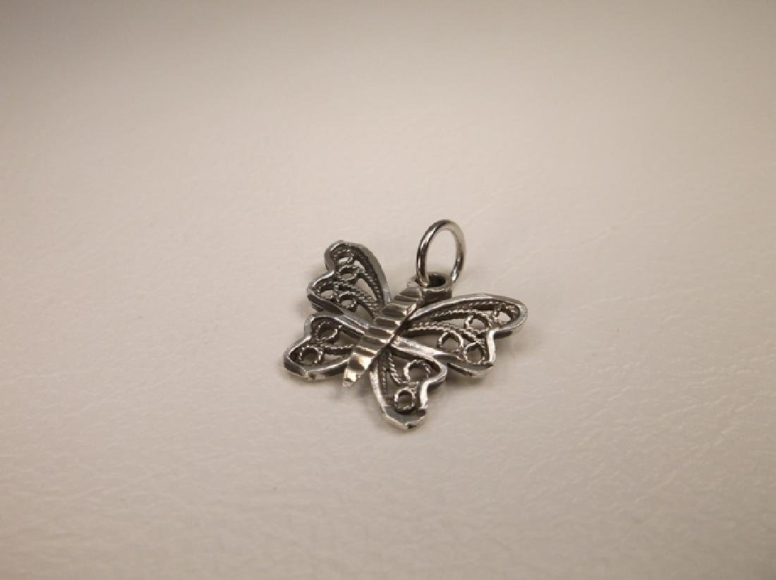 Gorgeous Ornate Sterling Silver Butterfly Pendant or