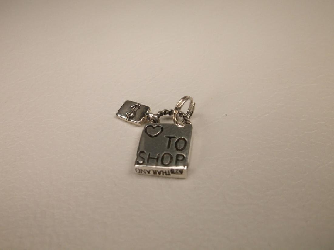 Gorgeous Sterling Silver Love to Shop Pendant or Charm