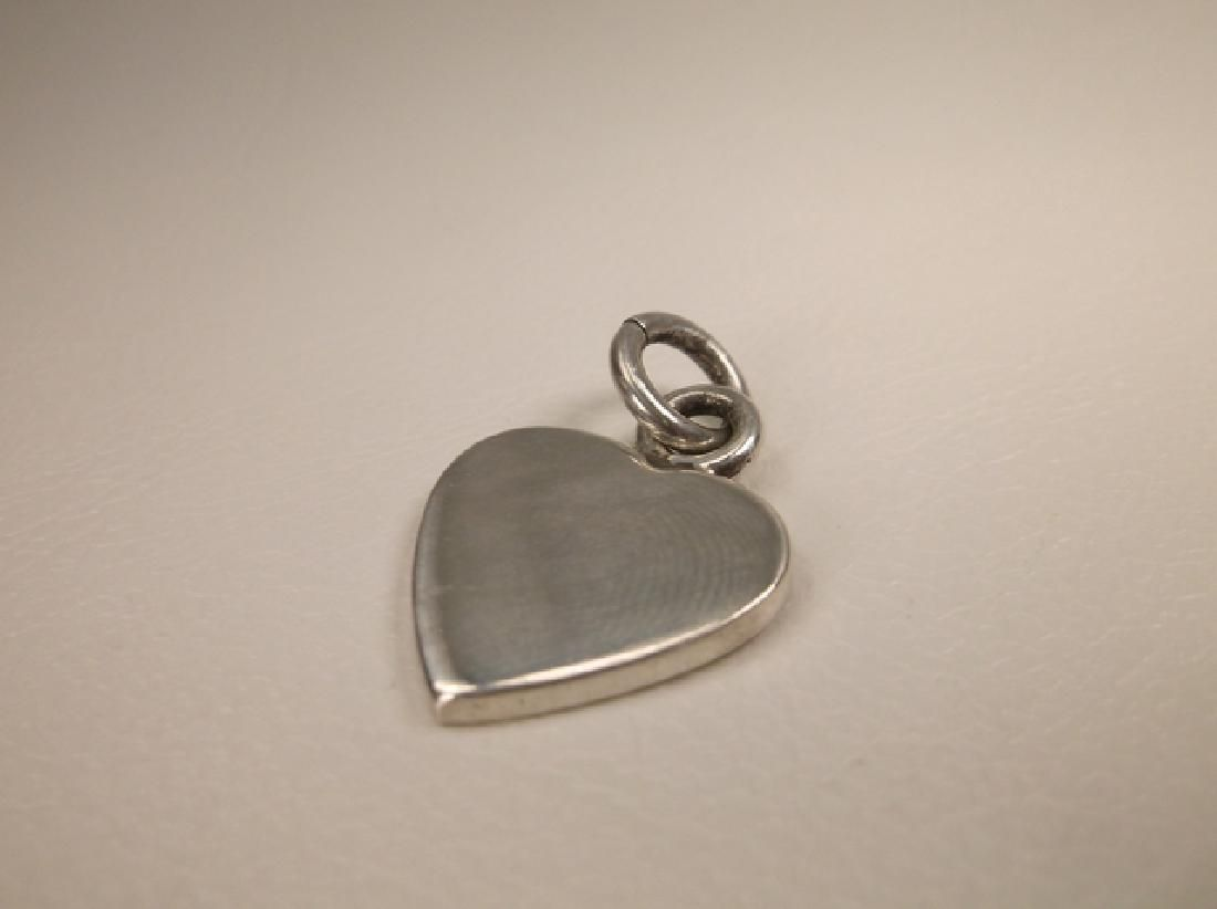 Gorgeous Thick Heavy Sterling Silver Heart Pendant