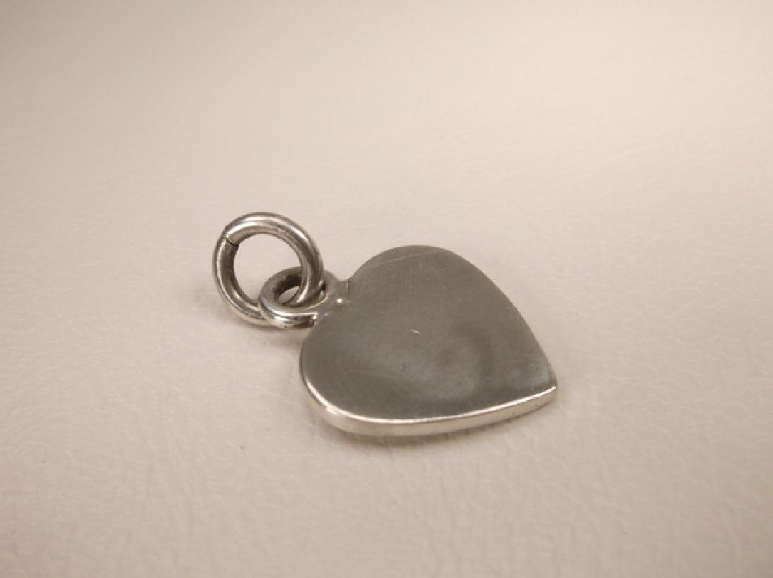 Gorgeous Thick Heavy Sterling Silver Heart Pendant - 2