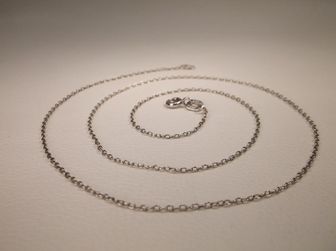Gorgeous Sterling Silver Chain Necklace 18 Inch Length
