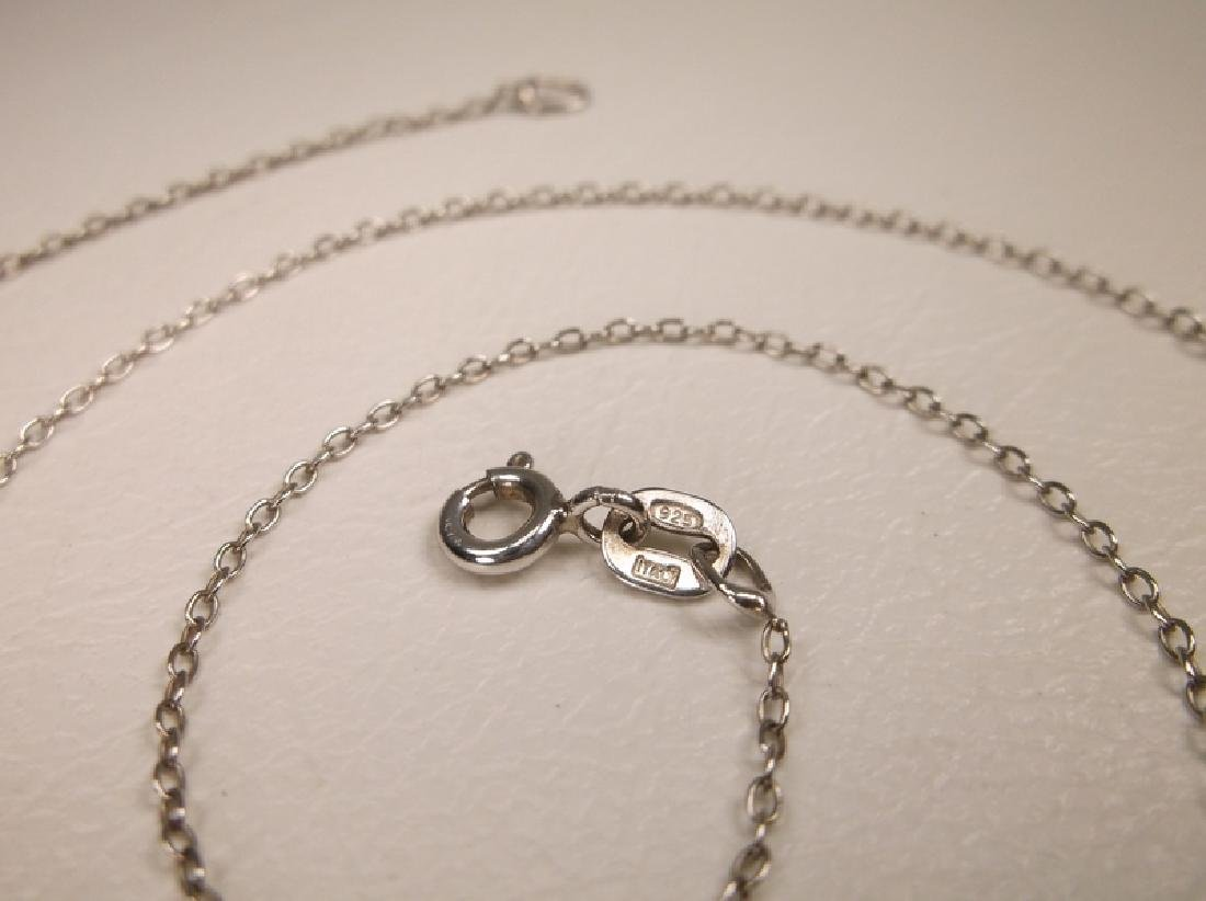 Gorgeous Sterling Silver Chain Necklace 18 Inch Length - 2