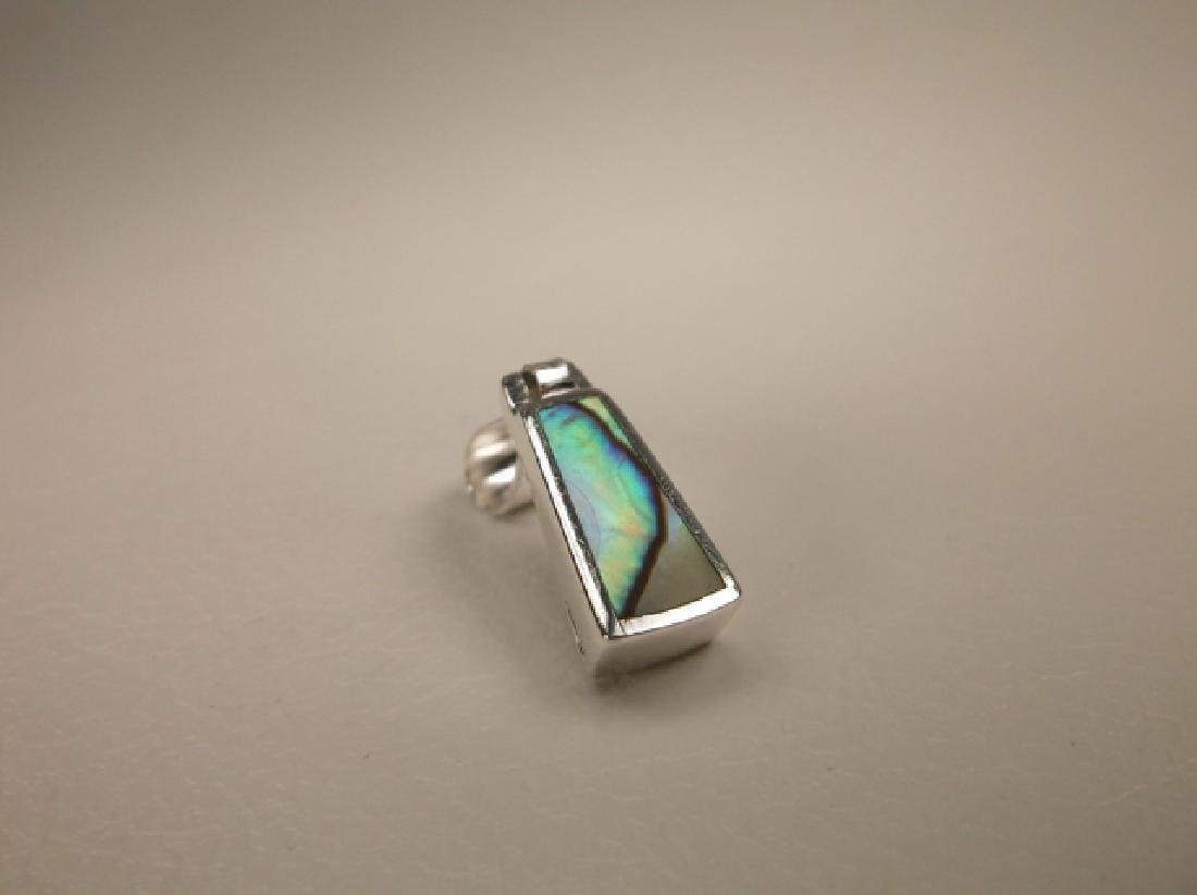 Gorgeous Sterling Silver Abalone Door Knocker Pendant