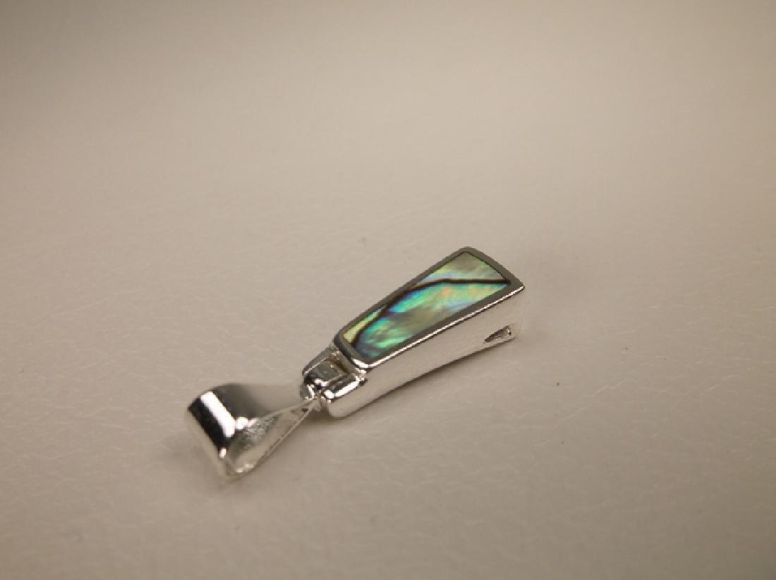 Gorgeous Sterling Silver Abalone Door Knocker Pendant - 2